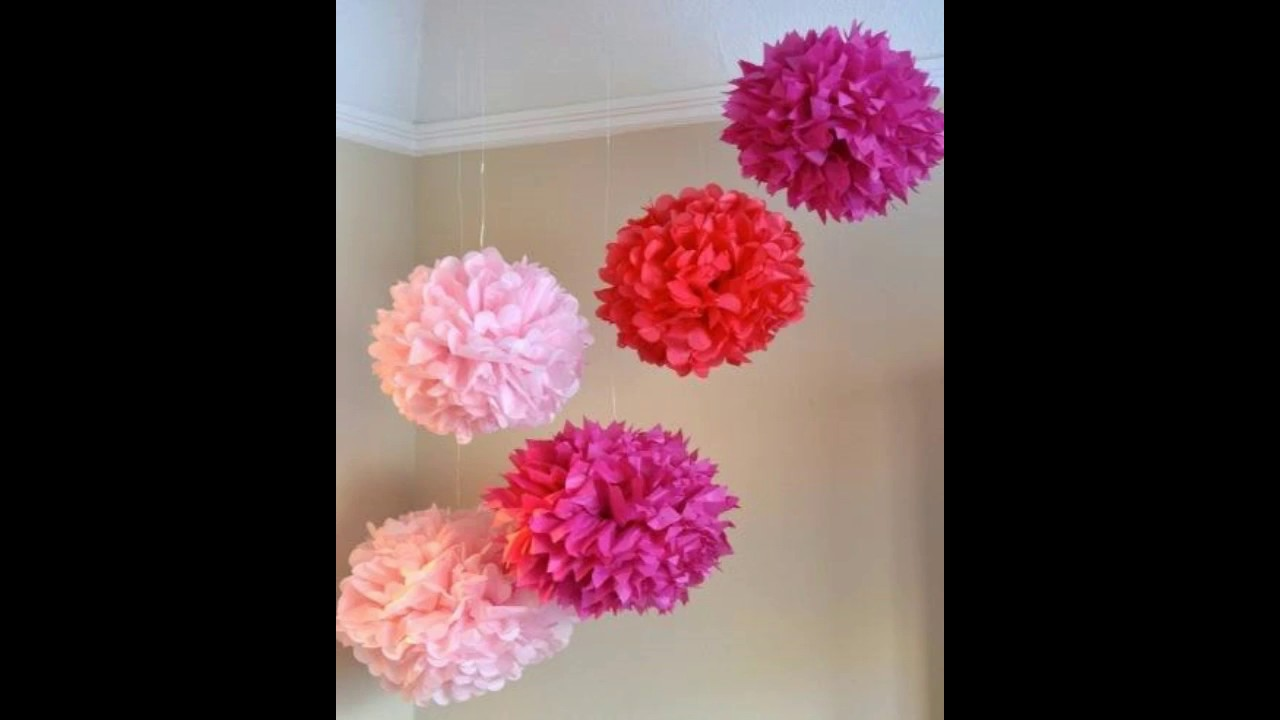 Diy Pompom De Papel Crepom Youtube