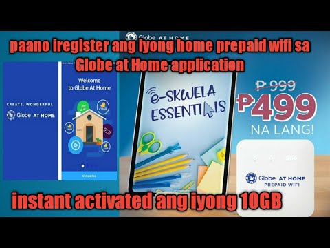 Paano iregister ang inyong home prepaid wifi sa Globe at Home App