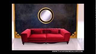 Luxury Modern Living Room Sofa Set - 3 Piece - Red - Desiree Ii