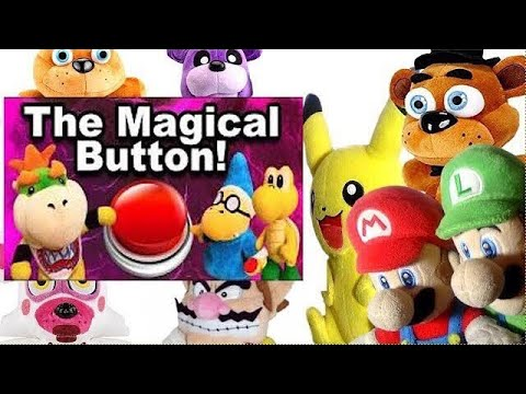 SML Movie: The Magical Button! Mario And Luigi Reaction (Freddy,Fred,Pikachu,Wario,FuntimeFoxy)
