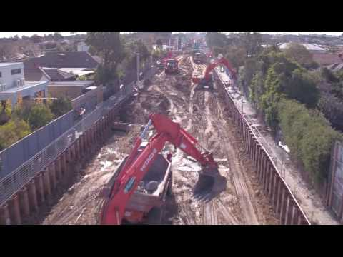 The epic works on the North McKinnon Centre level crossing removal project after 4 days
