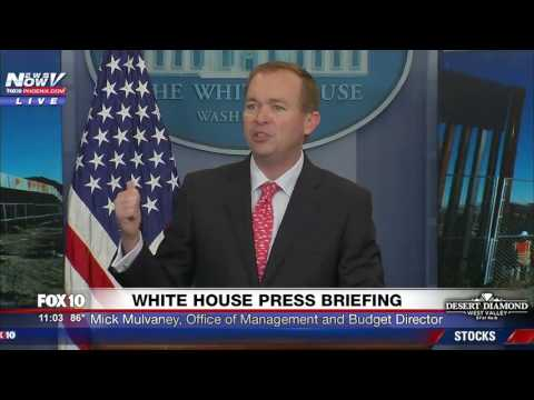 WATCH: Mick Mulvaney Talks About The New Border Wall (FNN)