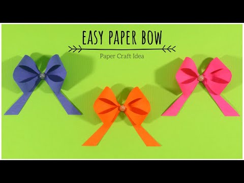 How To Make Paper Bow? Easy Paper Bow for Gift Wrapping and Decoration