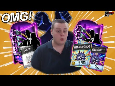 NEON PLATIN PACK! | MEGA LUCK! | Neon Nexus & Nächte Pack Opening! || WWE SuperCard S5