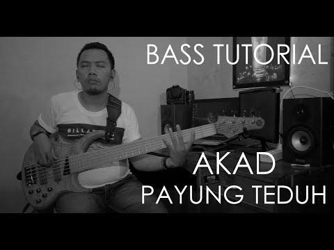 AKAD - Payung Teduh (Bass Cover) Belajar Bass Tabulasi / Chord Akad Mudah