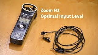 Zoom H1 Optimal Input Level