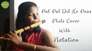 Pal Pal Dil Ke Paas | Flute Cover | With Notation | Instrumental | Ankita Nath.mp3