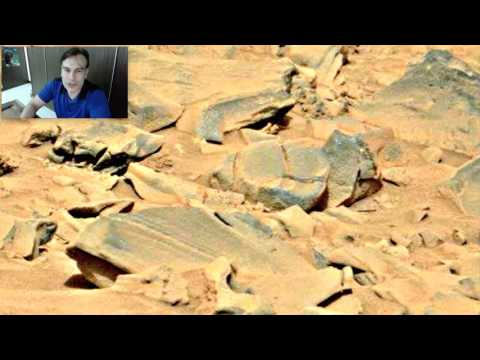 Two Faces Looking Toward Mars Rover In NASA Photo, Oct 31, 2015, Video, UFO Sighting .