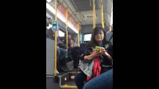 Deranged conflict on bus in Vancouver