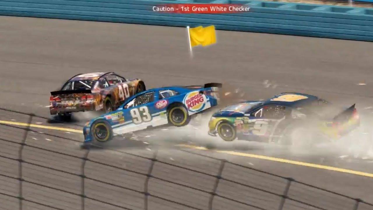 NASCAR 14 The Game Crash Compilation - YouTube