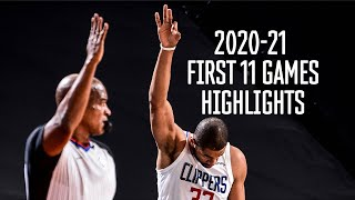 Nicolas Batum 11 first games all field goals highlights 2020-2021