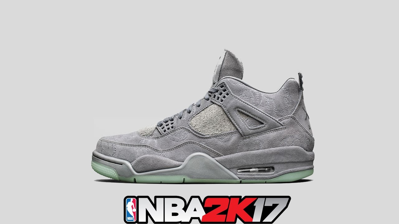 outlet store 85332 5aa60 NBA 2K17 Shoe Creator ⋆#NBA2K17⋆ Jordan 4 Kaws (Grey Suede) 🔥👟🔌