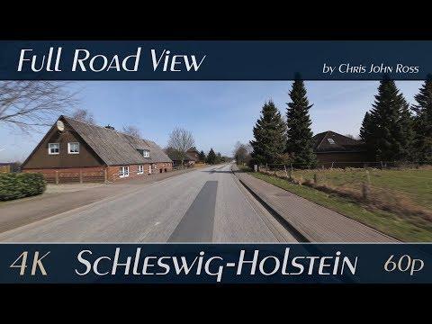 Schleswig-Holstein, Germany: Bundesstraße (B201), Autobahn (A7) - 4K (UHD/2160p/60p)