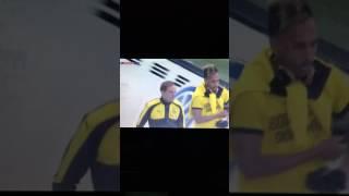 Schrecksekunde beim Spiel Wolfsburg - Dortmund ! Fehlalarm 20.09.2016