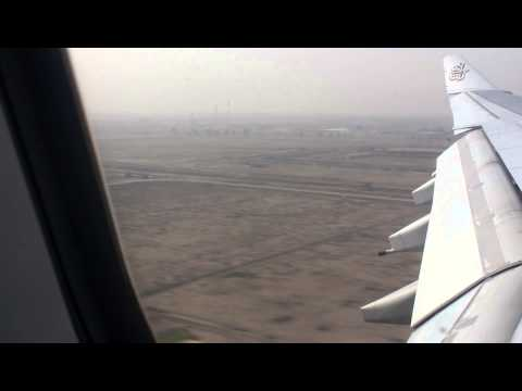 Landing in Baghdad Airport with Emirates (HD)