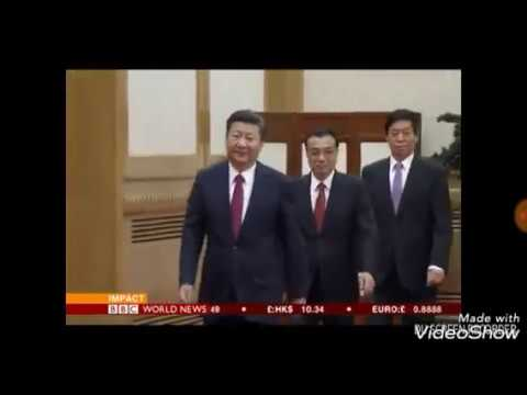BBC World News Chinese President Xi Jinping And His Polit Buro Members.