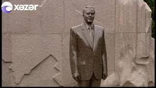 Prezident İlham Əliyev Fəxri xiyabanda ulu öndər Heydər Əliyevin məzarını ziyarət edib