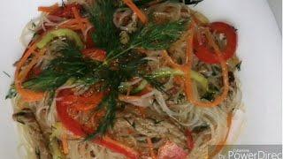 салат фунчоза очень вкусный и простой рецепт