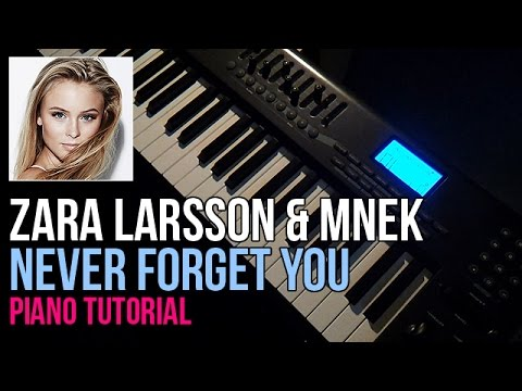 How To Play: Zara Larsson & MNEK - Never Forget You (Piano Tutorial)