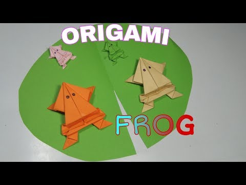ORIGAMI FROG  / How to make an easy paper frog  # PaperFrog  #Origami&DiyCraft #OrigamiTutorials