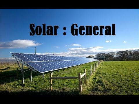 Solar: General