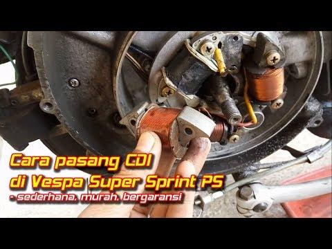 Cara pasang CDI di Vespa Platina Super Sprint PS || Aji VAS