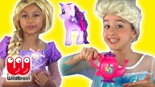 My Little Pony Tea Party - Pinata Opening & More - Princesses In Real Life | WildBrain Kiddyzuzaa
