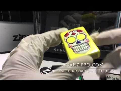 Zippo 24894 Day Of The Dead UNBOXING - aganzippo