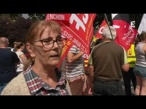 Manifestation des salariés de JB Martin à Fougères le 13 juillet 2017