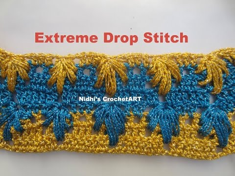 How To Crochet Extreme Drop Stitch Tutorial Youtube
