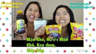 Mận Khô, Nước Mận Khô, Kẹo chua, Chip Bắp- Snack Review-NangAm NangVang