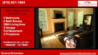 5 Bedroom Home for sale near Lost Mountain Middle School in GA 30101