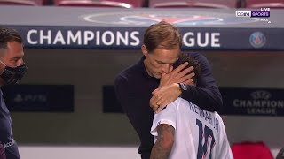 Neymar shares tight embrace with Tuchel after PSG-Atalanta game | Champions League 19/20 Moments