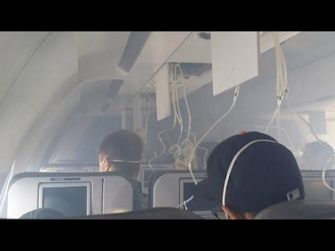 JetBlue Plane Flight 1416 Emergency Landing - Cabin Smoke Engine Fails Long Beach California Arrived