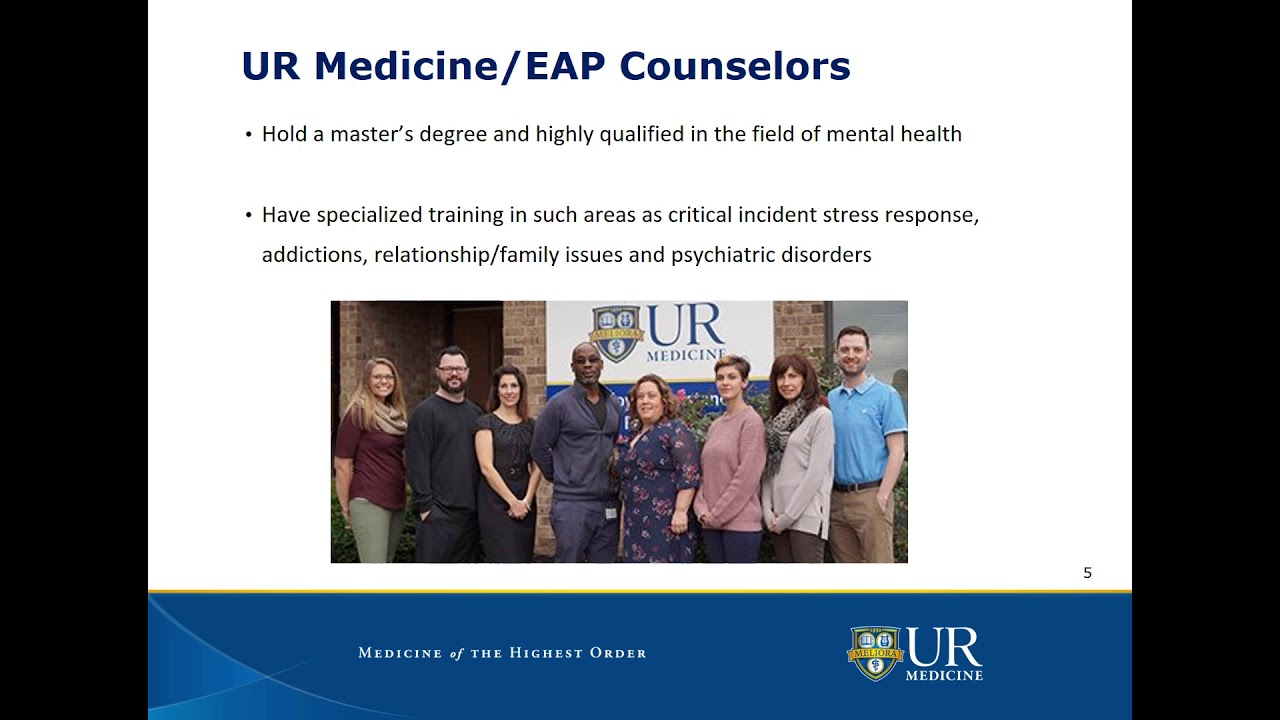 Employee Assistance Program (EAP) - University of Rochester