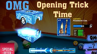 8 Ball Pool || Legendary Boxes Opening Trick on Firestorm 2018 || 100% Working Miniclip