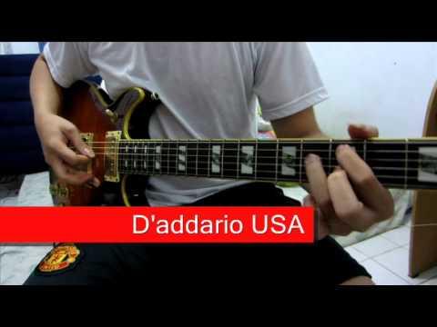 d 39 addario usa vs d 39 addario fake guitar string comparison youtube. Black Bedroom Furniture Sets. Home Design Ideas