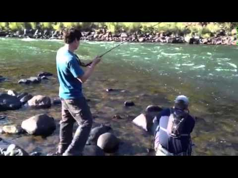 Walker Mathews fly fishing the Yellowstone River