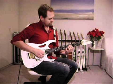 "Andrew playing Steve Vai's arrangement of ""Christmas Time Is Here,"" written by Vince Guaraldi and Lee Mendelson for the 1965 prime-time animated TV special, A Charlie Brown Christmas."