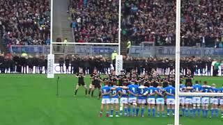 Rugby - Italia-Nuova Zelanda 3-66 (24-11-18) - Haka Nuova Zelanda