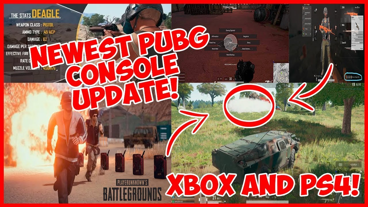 Xbox One and PS4 PUBG Update! New Weapon and Vehicle! July Patch