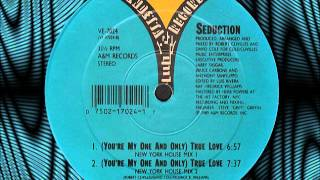 "Seduction ""you're my one and only""(true love) new york house mix 2 vinyl, 12"", 1989."
