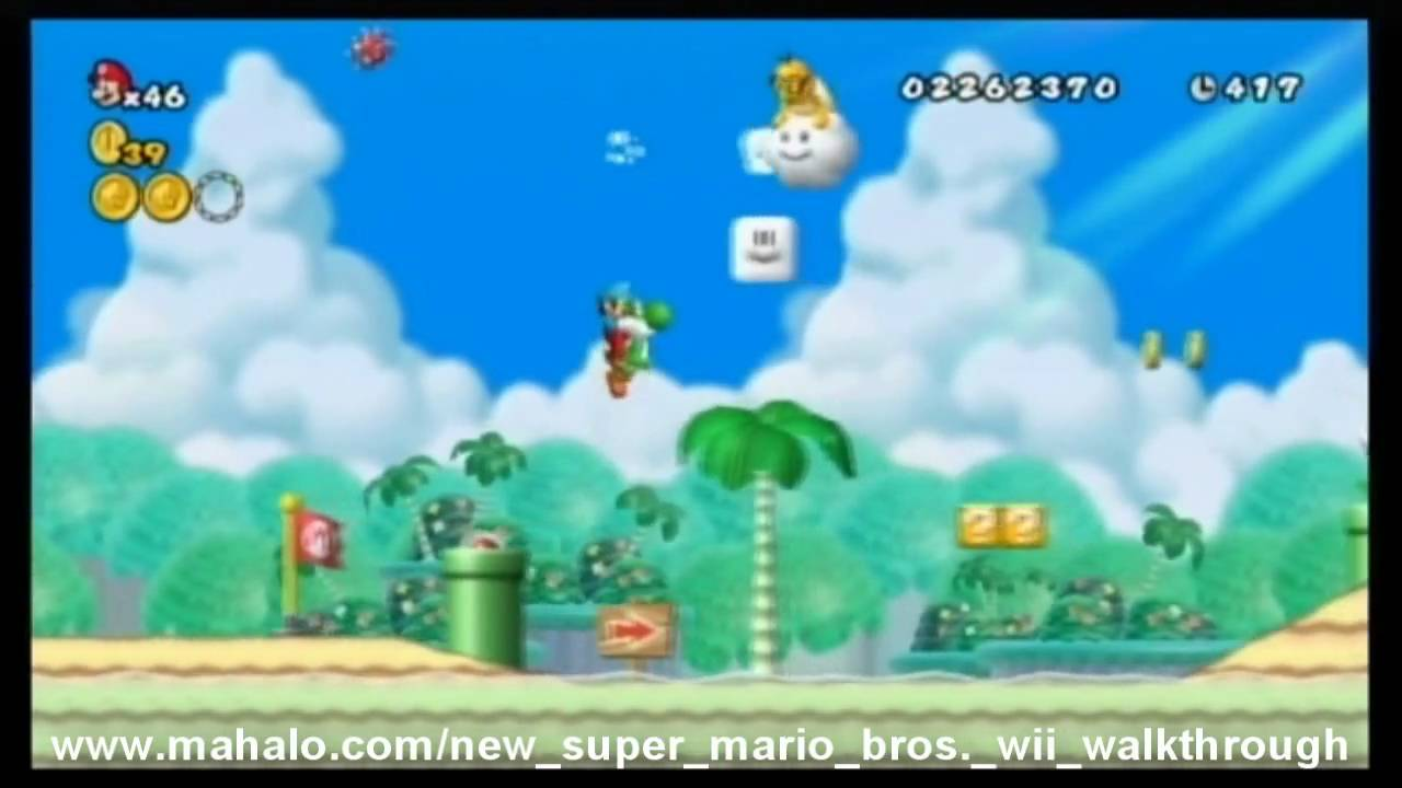 New Super Mario Bros Wii Walkthrough World 4 5 Youtube