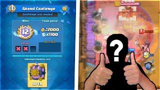 FACE REVEAL! Clash Royale Best Deck for 12 Wins Grand & Legendary Challenge