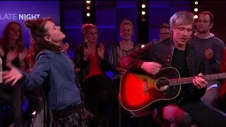 Jennie Lena covert Uptown Funk - RTL LATE NIGHT