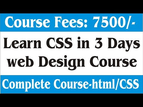 Learn CSS & Html in 10 minutes | CSS & HTML Tutorial in Hindi thumbnail