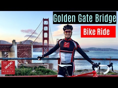San Francisco Bicycling Culture - Golden Gate Bridge RAPHA and bike courier