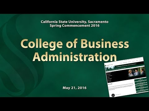Commencement - Spring 2016 - College of Business Administration