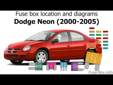 fuse box location and diagrams: dodge / chrysler neon (2000-2005) - youtube  youtube