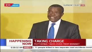 Justice Maraga's speech during swearing-in of Nzioka Mutyambai as new IG
